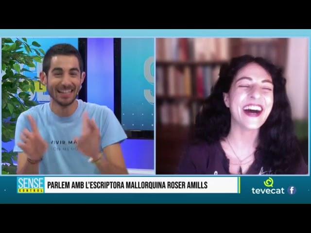 Roser Amills des de Mallorca a TEVECAT amb Nacho Encinas i Elena Batista