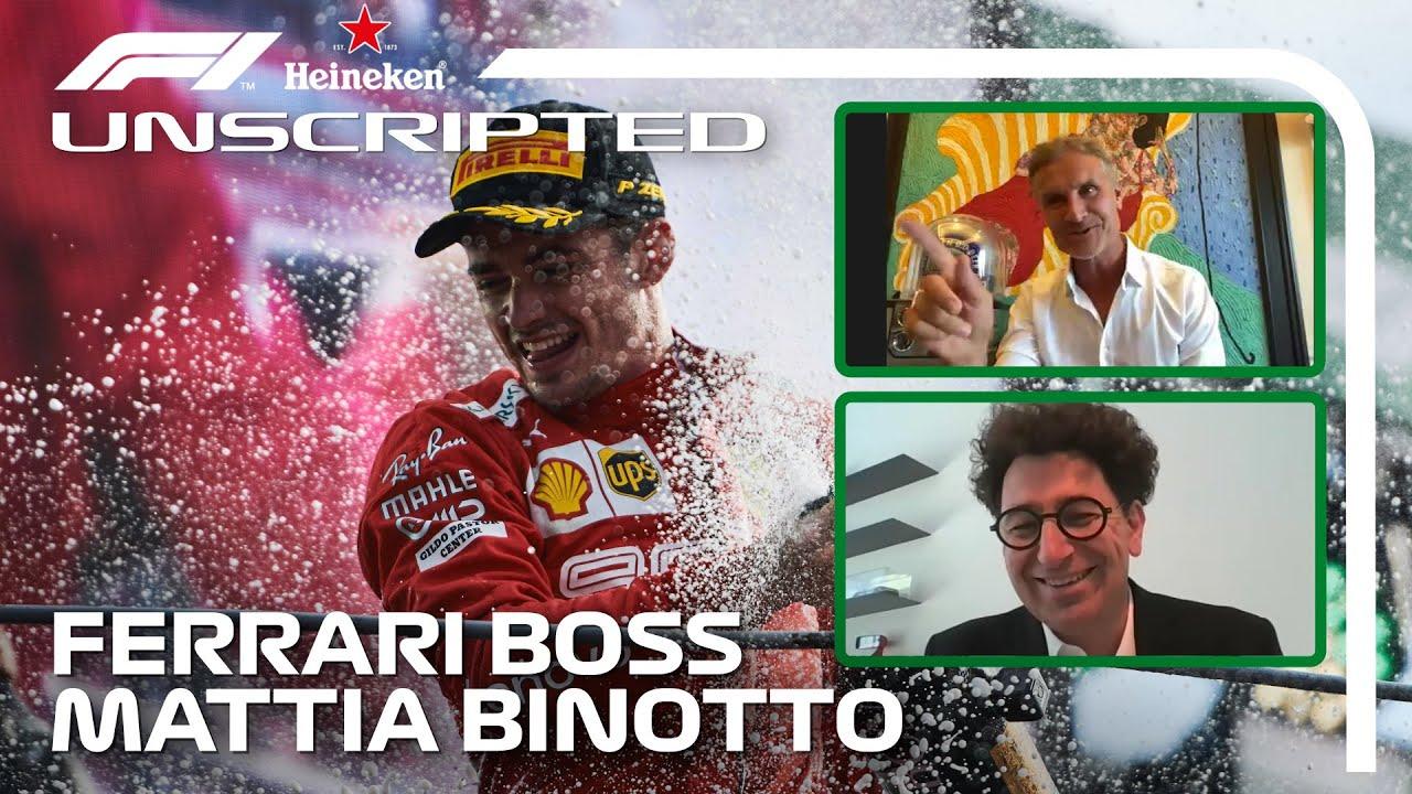 Mattia Binotto on Ferrari, Schumacher And More!   F1 Unscripted   Heineken Non-Race Sundays