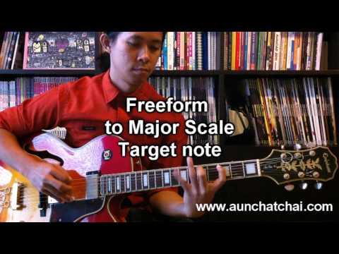 สอนกีตาร์ - การฝึกโซโล่ Jazz โดยใช้ Freeform