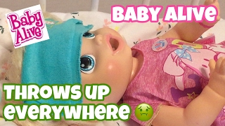 Baby Alive my Baby All Gone 🤢🤢2013 Maggie THROWS UP ALL OVER THE PLACE