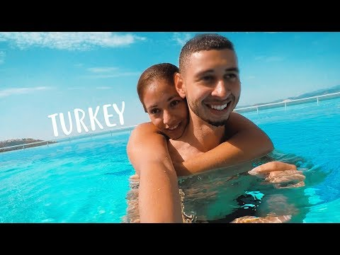 SWIMMING AND EATING IN TURKEY 🇹🇷 Travel Vlog | Jay & Rengin