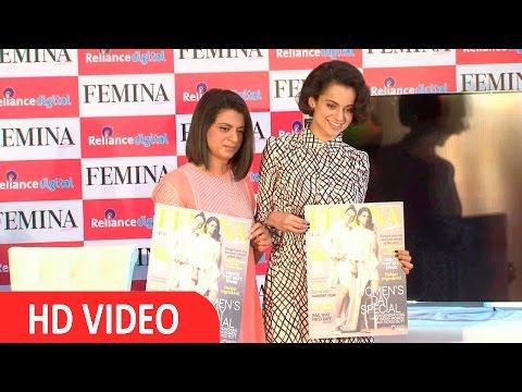 Kangana Ranaut & Sister Rangoli On Cover Of Femina Magazine UNCUT