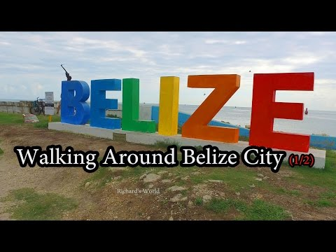 Walking Around Belize City (1/2) Dec 2016