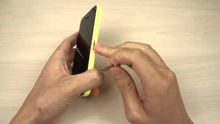 How to insert and remove the Nano SIM card on Apple iPhone 5C