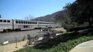 Amtrak Coast Starlight #14 in Simi Valley and Goleta, CA - 2/17/13