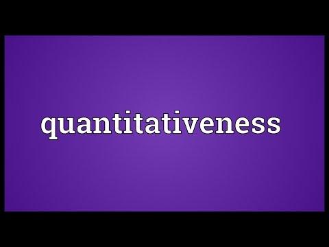 Header of quantitativeness