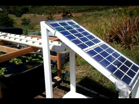Solar-powered aquaponics