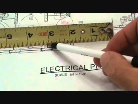 reading an electrical plan 'scale', wiring diagram
