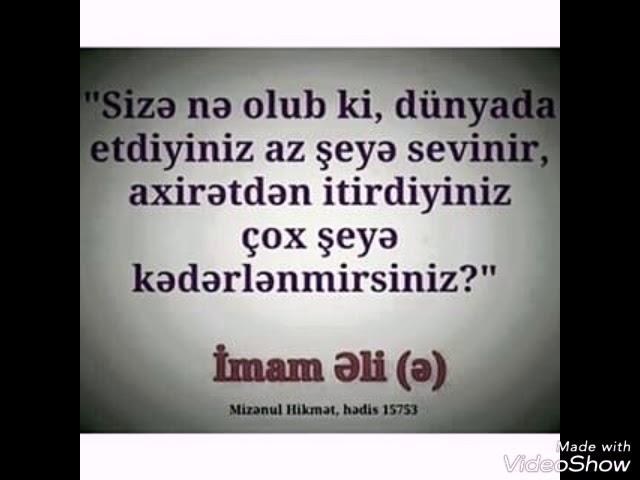 Hz əli Kəlamlari Youtube