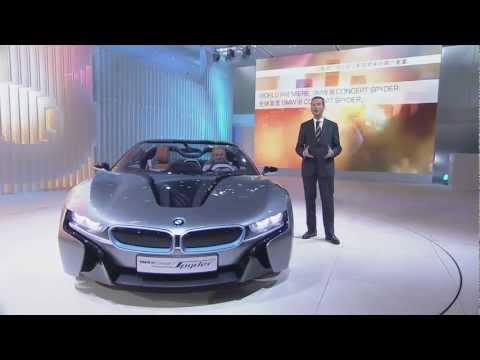 BMW i8 Spyder Concept Press Conference at 2012 Auto China in Beijing