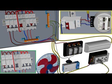 Cách đấu điện dân dụng: Aptomat tổng, áp đơn, áp chống giật, công tơ điện, công tắc, ổ cắm...