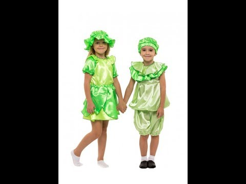 Детские карнавальные костюмы на праздник Осени. Фрукты о овощи.