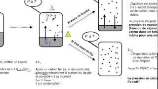 5A-Pression de vapeur d'équilibre (tension de vapeur)