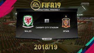 FIFA 19 Wales Vs Spain   International Match   PS4 Full Match