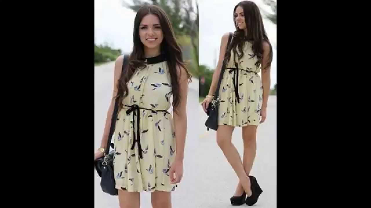 66f3b87b0 Modelos de Vestidos Curtos Para o Dia a Dia - YouTube