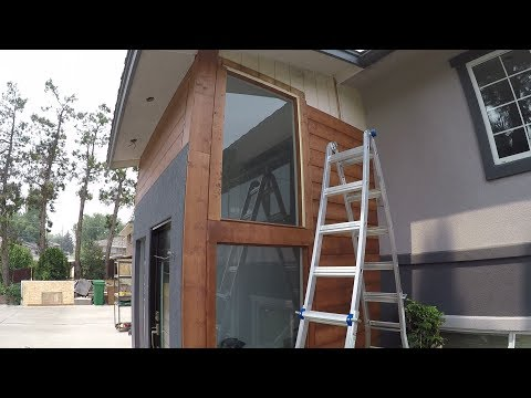 How to Wood Siding | Stained Pine | Step by step | Shot with GoPro | DIY.