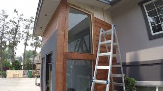 How to Wood Siding. Stained Pine. Step by step. Shot with GoPro. DIY.