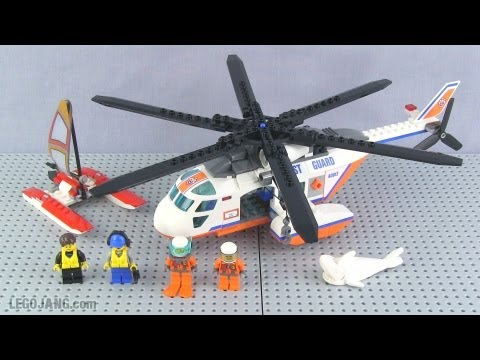 Lego Coast Guard Helicopter Set 60013 Review Youtube