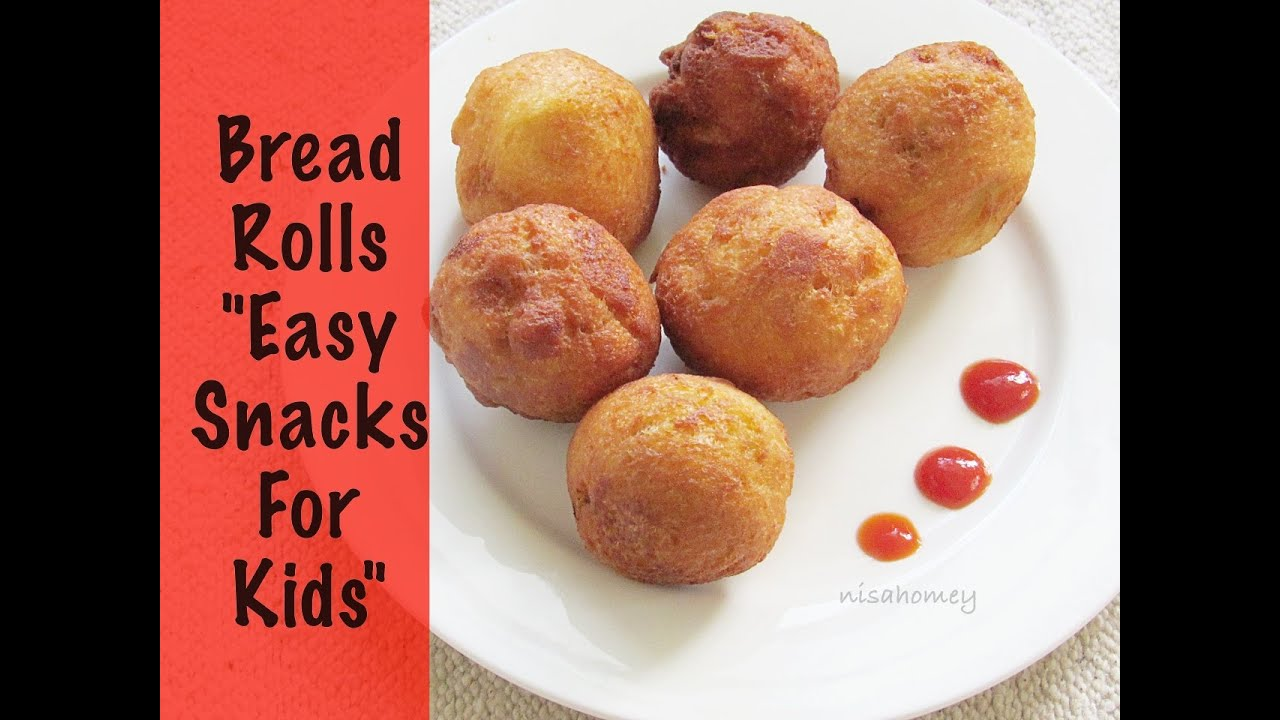 Bread roll recipe how to make bread rolls indian for Easy after school snacks for kids to make