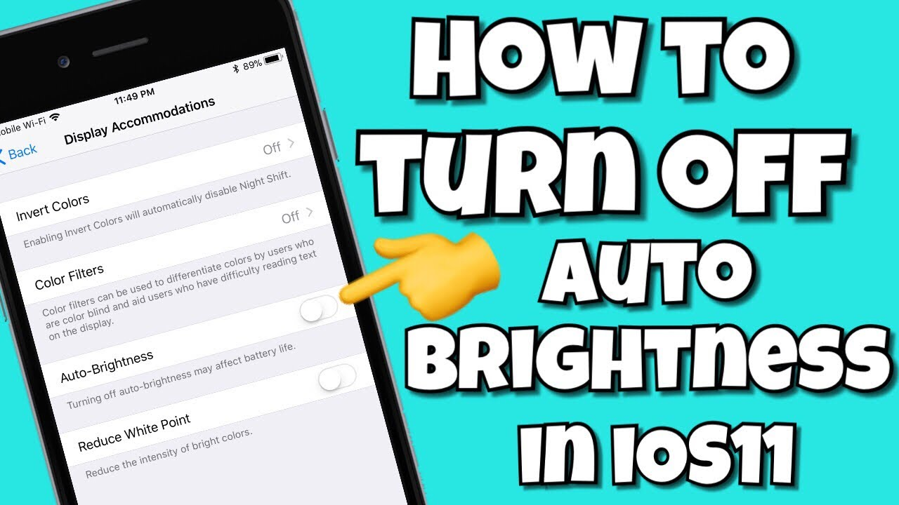Invert color jpg online - How To Turn Off Auto Brightness In Ios11 Iphone Ipad