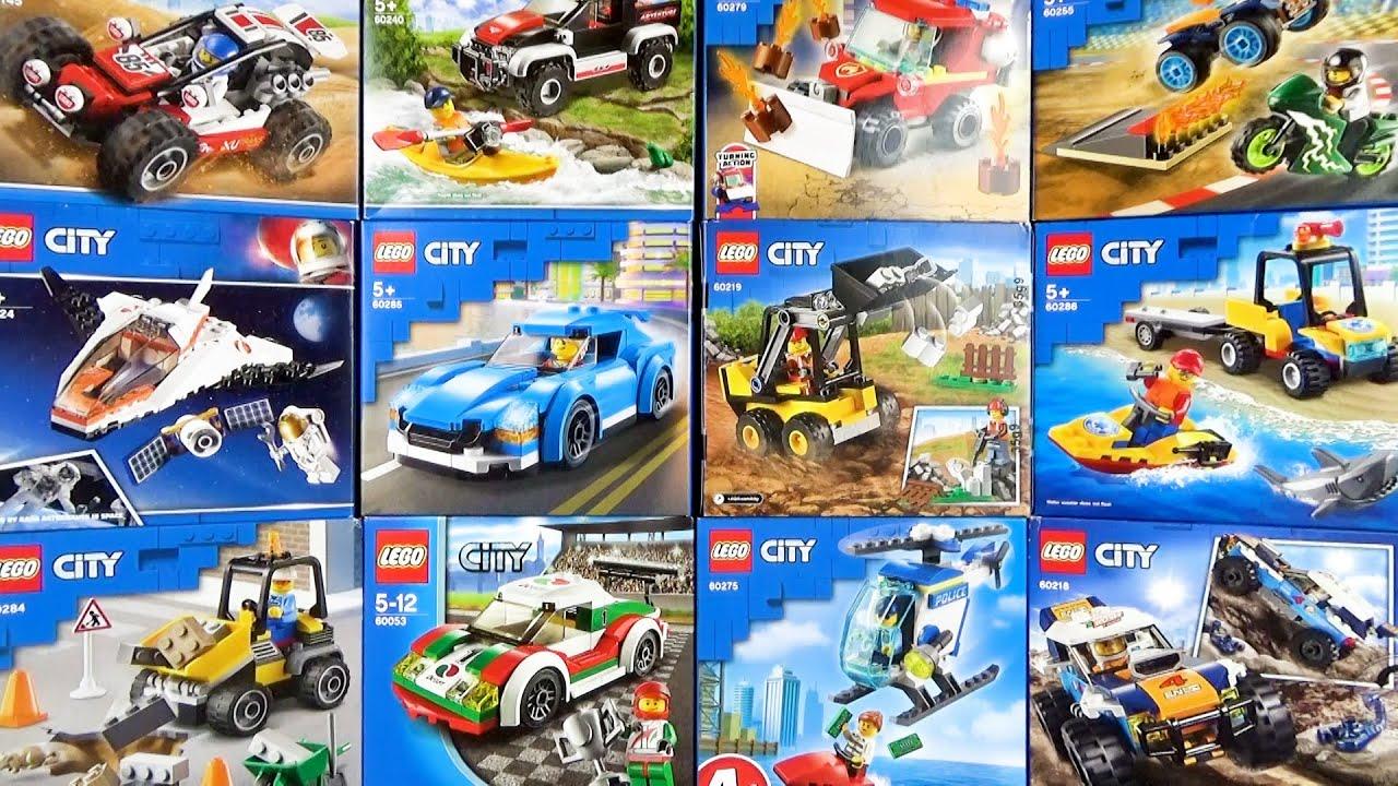 レゴシティのいろいろな乗り物を組み立てて遊ぼう♪シャベルカー、ラリーカー、レスキューなど
