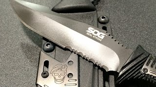 SOG Seal Strike: Tactical Fixed Blade With Fire Steel, Strap Cutter, and More - Shot Show 2015