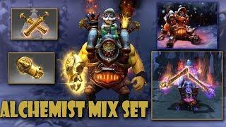 Dota 2 Alchemist Mix Set  Frostivus 2017 Treasure Boilerplate Bruiser  Radiance Blades-Midas