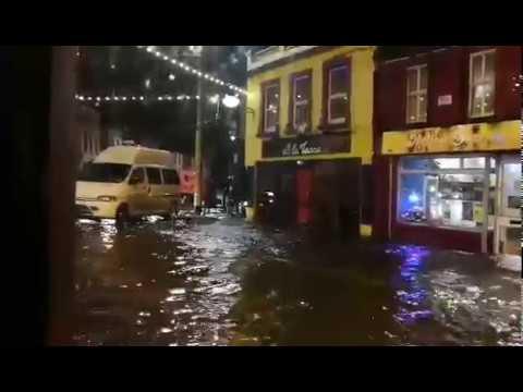 Flooding on Dominick Street, Galway  Storm Eleanor, 2nd January 2018, Ireland