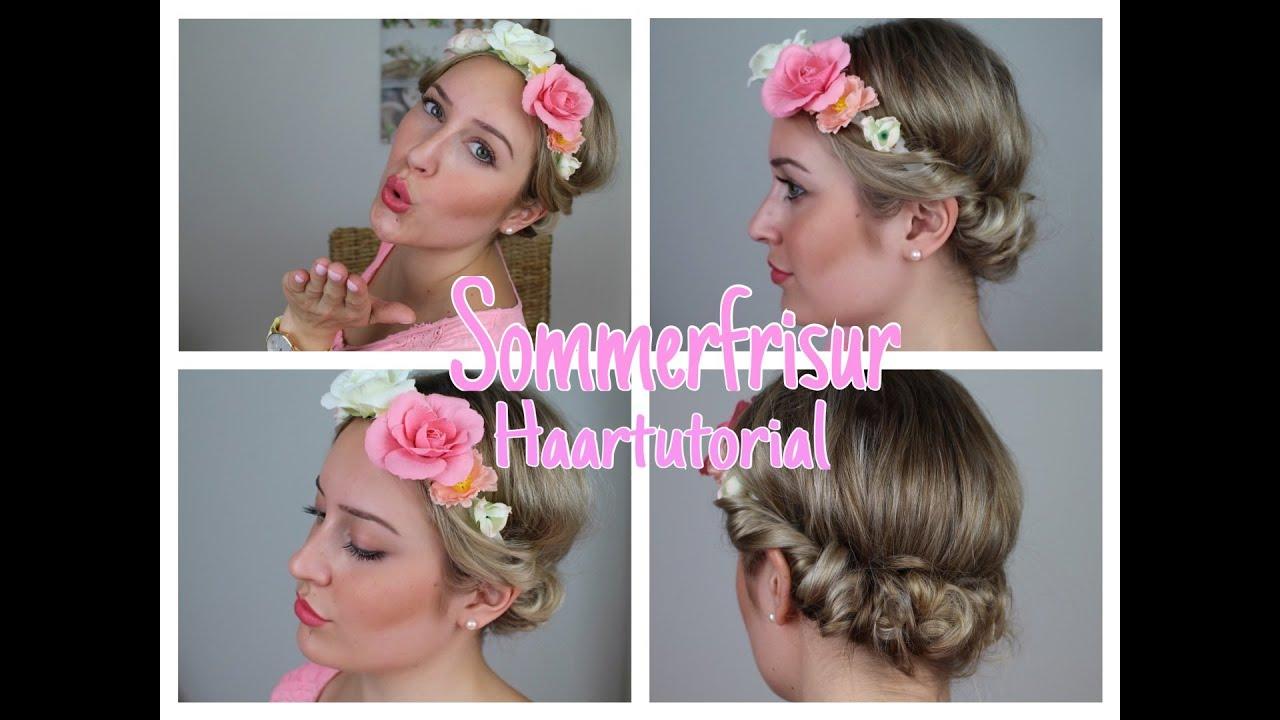 Sommerfrisur Haartutorial Festivalfrisur Blumenhaarband Nicolettinisbeautylounge