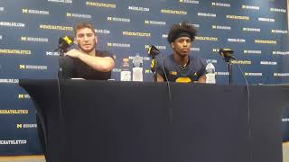 Shea Patterson and Donovan Peoples-Jones react to Michigan's win over SMU