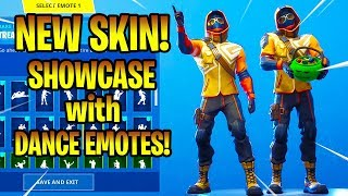 *NEW* SUMMIT STRIKER SKIN SHOWCASE WITH DANCE EMOTES! Fortnite Battle Royale