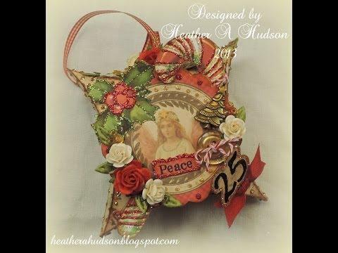 Christmas Victorian Paper Ephemera Pillow box DIY Vintage Ornament tutorial Advent Countdown