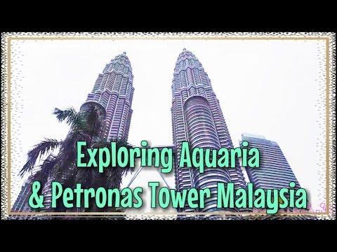 Exploring 🐟🐠🐡Aquaria🐋🐬🐙 And Petronas Tower In Kuala Lumpur City Centre Malaysia • Malaysia Trip VLOG