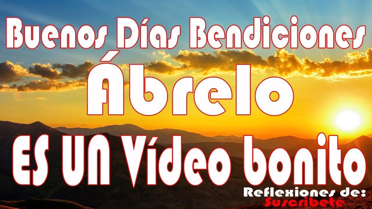 Reflexiones De Buenos Dias Youtube