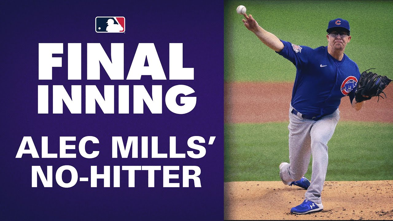 Full Final Inning of Cubs' Alec Mills' NO-HITTER vs. Brewers!