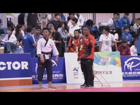 106年全大運::跆拳 品勢::Malaysia/Ahmady Bin Radi::公開男子組 複賽