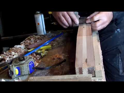 Making  Acoustic Guitar Neck From SCRAP Wood Part 1