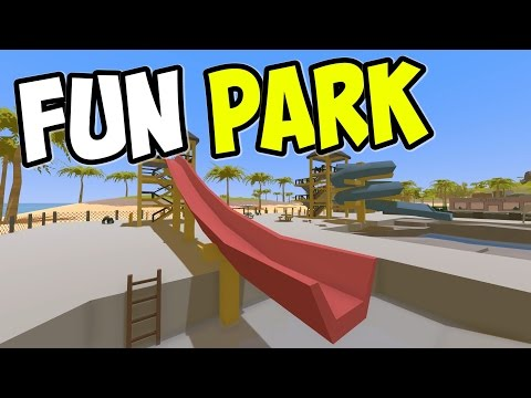 "UNTURNED - ""Fun Park Super Slide!!"" Episode 76 (Unturned Role-play Hawaii Playthrough)"