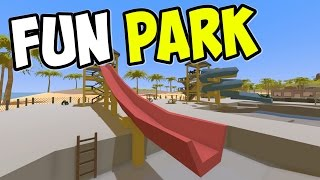 "UNTURNED - ""Fun Park Super Slide!!"" Episode 76 (Unturned Role-play Hawaii Playthrough)"