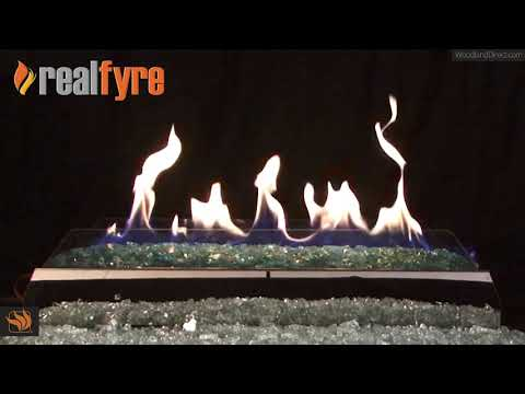 The G21 Burner and Contemporary Ventless Fire Glass Set by Real Fyre