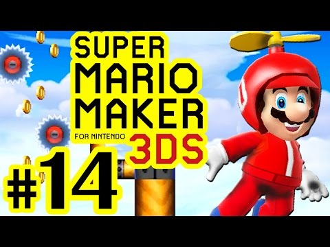 SUPER MARIO MAKER FOR 3DS # 14 ★ Propeller-Party plus Backtracking! [HD60]