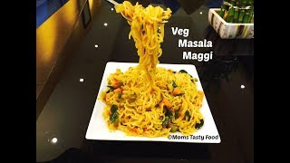 Maggi Recipe  How to Make Perfect Maggi Masala Veg Noodles Street Style