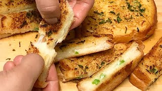 Bread കൊണ്ട് വളരെ എളുപ്പത്തിൽ തയ്യാറാക്കാം- Garlic bread fingers- easy eveningsnacks- Garlic bread