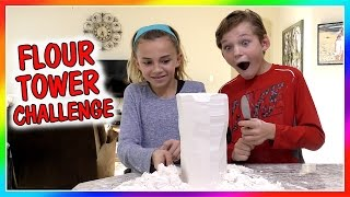 Video OUR FUN FLOUR TOWER CHALLENGE download MP3, 3GP, MP4, WEBM, AVI, FLV Juli 2018