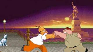 D_N Mugen: Peter Griffin vs Homer Simpson
