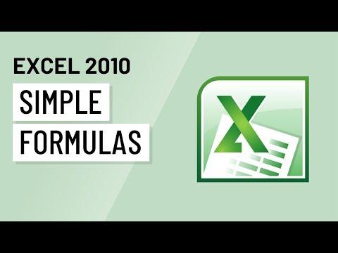 Excel 2010: Simple Formulas