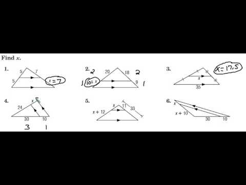 proportional parts of triangles with parallel lines youtube. Black Bedroom Furniture Sets. Home Design Ideas