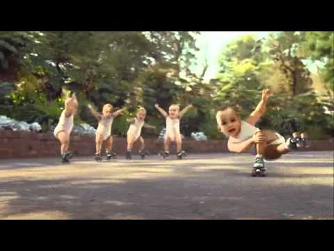 Evian Water baby commercial