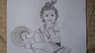 Speed drawing of young krishna