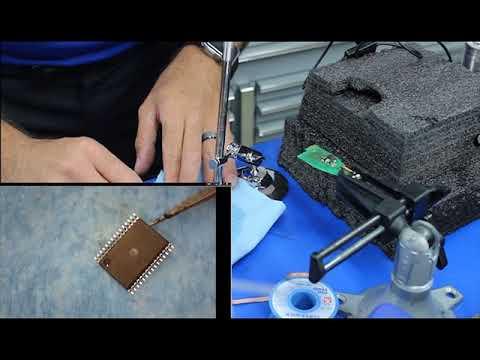 Removing NEC chip on Mercedes keys for beginners